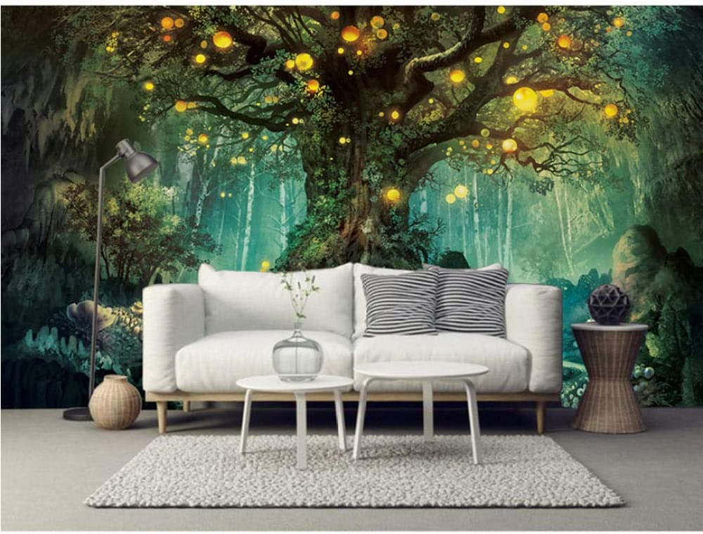Cartoon Big Tree Photo Wall 70% OFF Outlet Paper Colorado Springs Mall Bedroom Room C Mural 3D Living