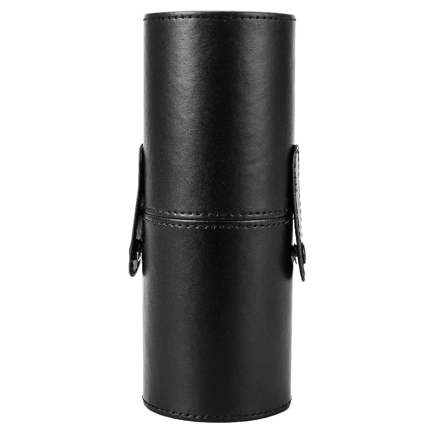 SeagullWaves メイクブラシケース 化粧カップ 収納 携帯 筒型 かわいい メイク アップ ブラシ 専用 収納 ケース 文房具バレル レディース 収納桶 収納筒 全4色 (ブラック)