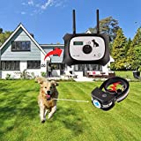 OKPET Wireless Dog Fence Containment System, Safe Effective Dog Fence, Dual Antenna Stronger Stabler Signal 100 Levels, New Technology Applied for US Patent (1 Collar Kit + 14 Flags)