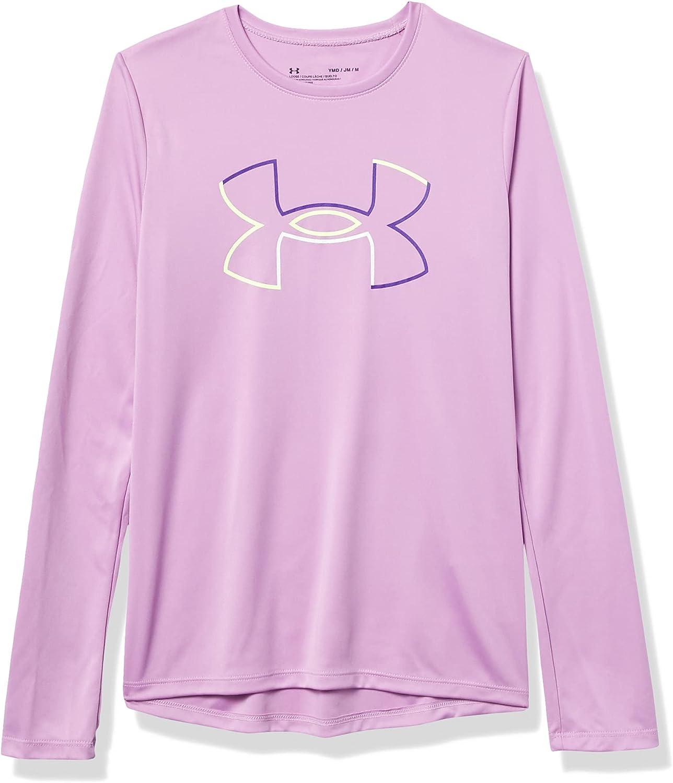 Under Armour Girls' Tech Big Logo Long Sleeve T-Shirt