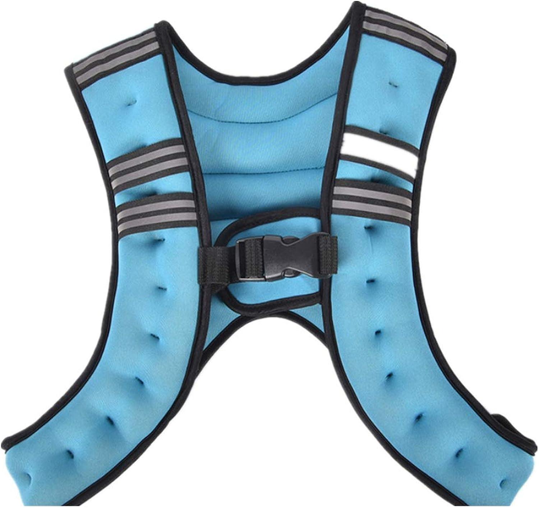 Trainingsgewicht Jacke Gewichts-Weste mit verstellbarem Schultergurt Einheitsgre Fitnessstudio luft Fitness (Farbe   Blau)