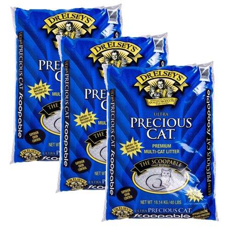 3 Pack Precious Cat Ultra Premium Clumping Cat Litter 40 Pound Bag