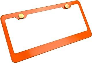 KA LEGEND Orange T304 Stainless Steel License Plate Frame Holder Front Or Rear