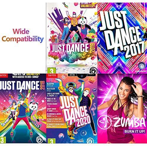 TiMOVO Bandas de Muñeca Compatible con Just Dance 2021/2020/2019 y & Nintendo Switch Zumba Burn It Up, [Kit de 2 pzs de Diferente Tamaño] Bandas de Muñeca Elástica Ajustable para Joy-con Controlador