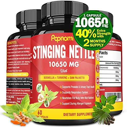 Organic Stinging Nettle Root Extract Capsules 10650MG Highest Potency Plus Health Complex Prostate product image