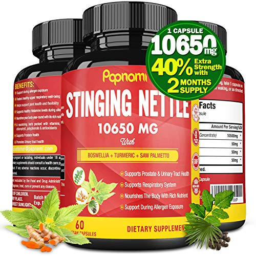 Organic Stinging Nettle Root Extract Capsules 10650MG, Highest Potency Plus Health Complex | Prostate Health Supplements for Men| Promotes Urinary Tract Health, Blood Pressure Support, 2 Months Supply