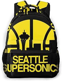 OXZNCVWQ Seattle Supersonics Backpack Day Pack,Backpacks Laptop Bag for Kids Boys Girl,Notebook Backpack - Unisex Backpack - Student Backpack