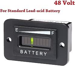 SEARON 48 Volt LED Battery Status Charge Indicator Monitor Meter Gauge Level Indicator for Motorcycle Yamaha Golf Carts Car Jet Ski (48V-Standard LAB)