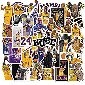 Basketball Star Stickers Kobe Black Mamba Sticker Small Decal 50 Pack for Laptop Cars Room Wall Car Window Hydroflasks Water Bottles