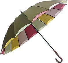 傘 レディース 親骨58cm 16本骨 手開き 無地×裏面4色二重張り手開き雨傘