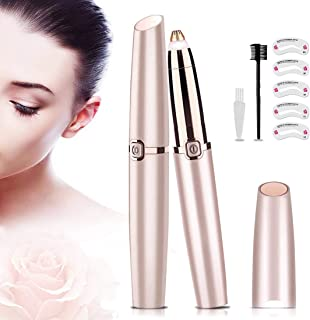 AMORIX Portable Eyebrow Razor Precision Eyebrow Trimmer Lightweight Painless Eyebrow Epilator Hair Removal for Women, with...