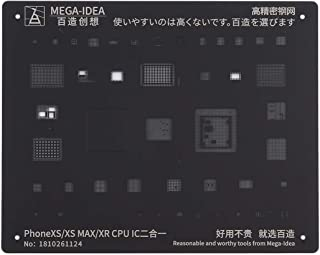 ZHANGYOUDE Repair Parts MEGA-IDEA for iPhone Xs/XS Max/XR Mobile Phone Rework Repair BGA Reballing Black Stencils