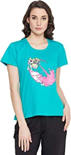 Clovia Women's Cotton Powerpuff Girls Print T-Shirt
