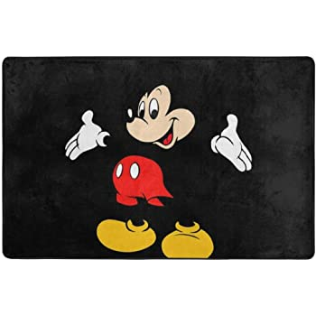 Mickey-Hot Dog Hills Rug Deal Plus Disney All New Marvel 54 x 80 Super Soft Area Rug with Non Slip Backing