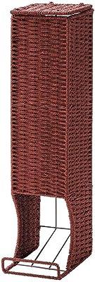 ちどり産業(Tidorisangyou) トイレ収納 レッド 約W13.5×D18.5×H56cm