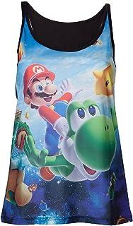 Nintendo Womens Ufficiale Super Mario Galaxy 2 & Yoshi Vest Top Ladies