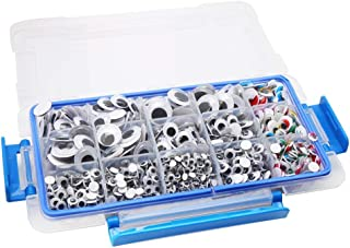 CCINEE 1700 Pieces 5mm-20mm Peel and Stick Wiggle Googly Eyes for DIY Scrapbooking Crafts