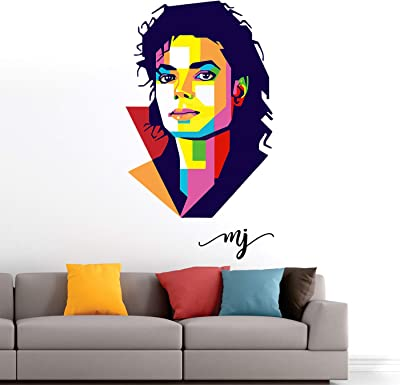 StickMe 'Michael Jackson - Music- Pop - King - Modern Art - Warp Art - Creative - Colourful Wall Sticker' -SM574 (PVC Vinyl - 105cm X 60 cm)