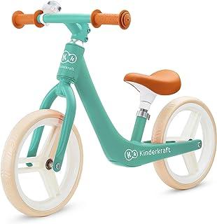 Kinderkraft Balanscykel FLY PLUS, lätt cykel, inga pedaler, 12 tum hjul, med justerbar sadel, retro-stil, magnesiumram, fö...