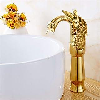 Bijjaladeva Cascada Grifo del Fregadero del BañoGrifos grifos chapados en Oro de Cuenca Cuenca Alta Plus Gold Ceramic Grifo Grifos de lavabo