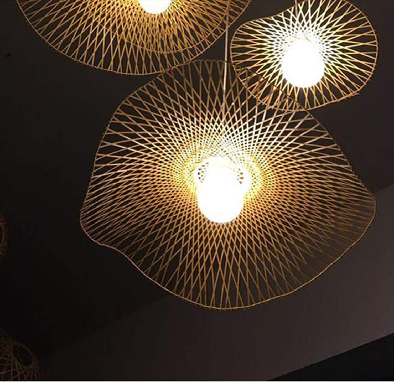 Moklo Hyu Ceiing Lichter, Grüniefte Innenbeleuchtung, die kreativen Leuchter für Restaurant-Stab-Tee-Raum, Wohnzimmer, Portal, E27 Bambus (einzelner Kopf) hngt