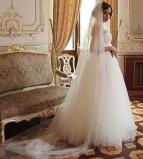Velo da sposa in pizzo Ushiny con pettine in metallo Applique bordo goccia velo accessori per capelli da donna lunghezza g...