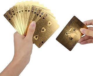 Geometric Waterproof Gold Foil Poker Cards For Casino Friends Durable