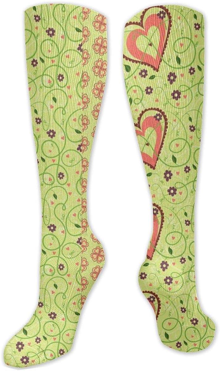 Flower Love Heart Knee High Socks Leg Warmer Dresses Long Boot Stockings For Womens Cosplay Daily Wear