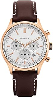 Gant Bronwood Men's White Dial Leather Chronograph Watch - G GWGT080007