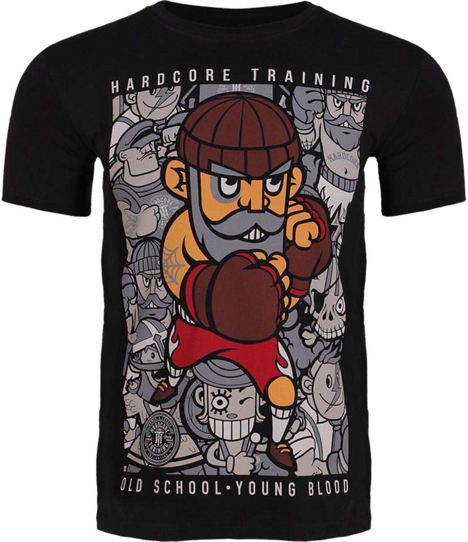 Hardcore Training Max 56% OFF Marcello 2.0 Our shop most popular Black Sleeve Short T-Shirt Men's