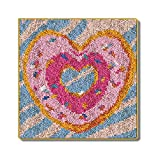 Latch Hook Rug 3D Amor del Corazón Mat Ganchillo Alfombra Alfombra 100% Acrílico Hilados Cojín del Sofá Mat Ganchillo Tapiz De Bricolaje Alfombra Arte Y Artesanía