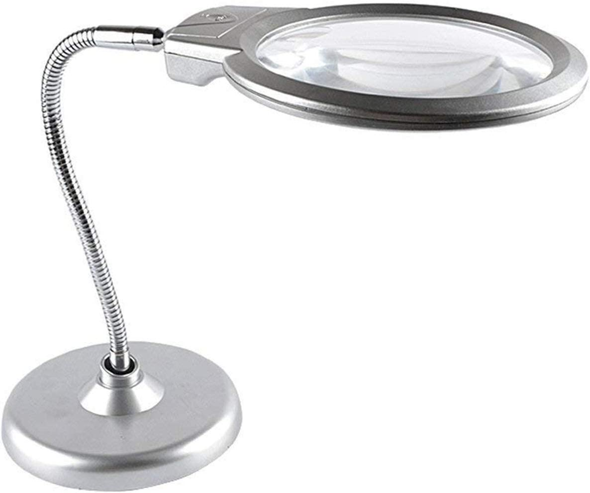 ZHJBD JIANER Vision aid Desktop Magnifier 10x 20x Virginia Beach Mall Led with Lamp OFFicial store