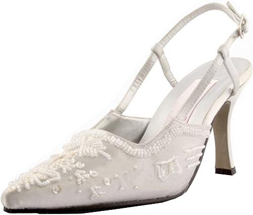 ZHRUI MZ586 Main Femmes Femmes Sequin Satin Mariage De Mariée Soirée De Soirée Formelle Pompes Chaussures (Couleuré   Ivory-6.5cm Heel, Taille   6 UK)  commandez maintenant profitez de gros rabais