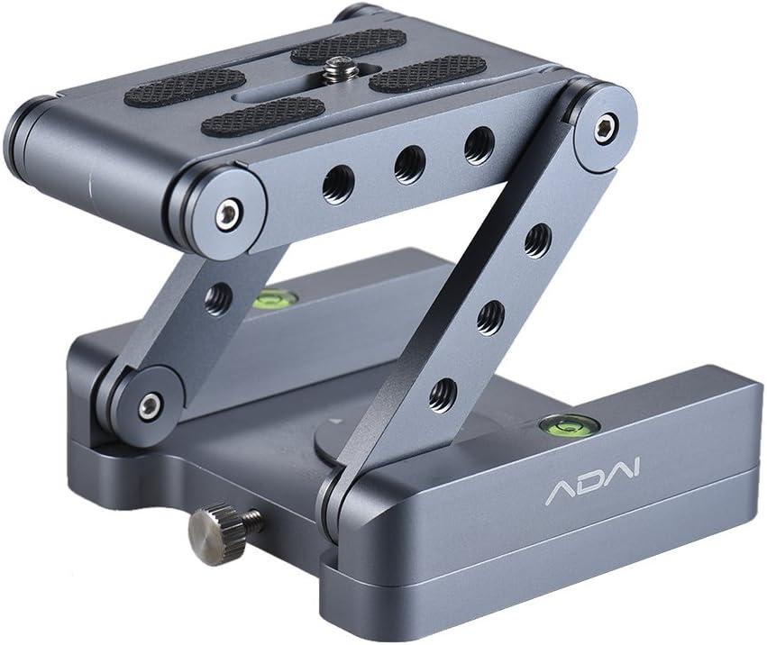 Andoer Z Flex Tilt cabeza de trípode Z cabeza de inclinación plegable de aleación de aluminio 360 ° Rotary soporte de montaje placa de liberación rápida nivel de burbuja para cámara réflex digital