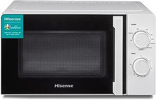 Hisense H20MOWS1H – Micro-ondes, capacité de 20 L, 700 W de puissance, 6 niveaux, minuteur 30 min, mode dégivreur, poigné...