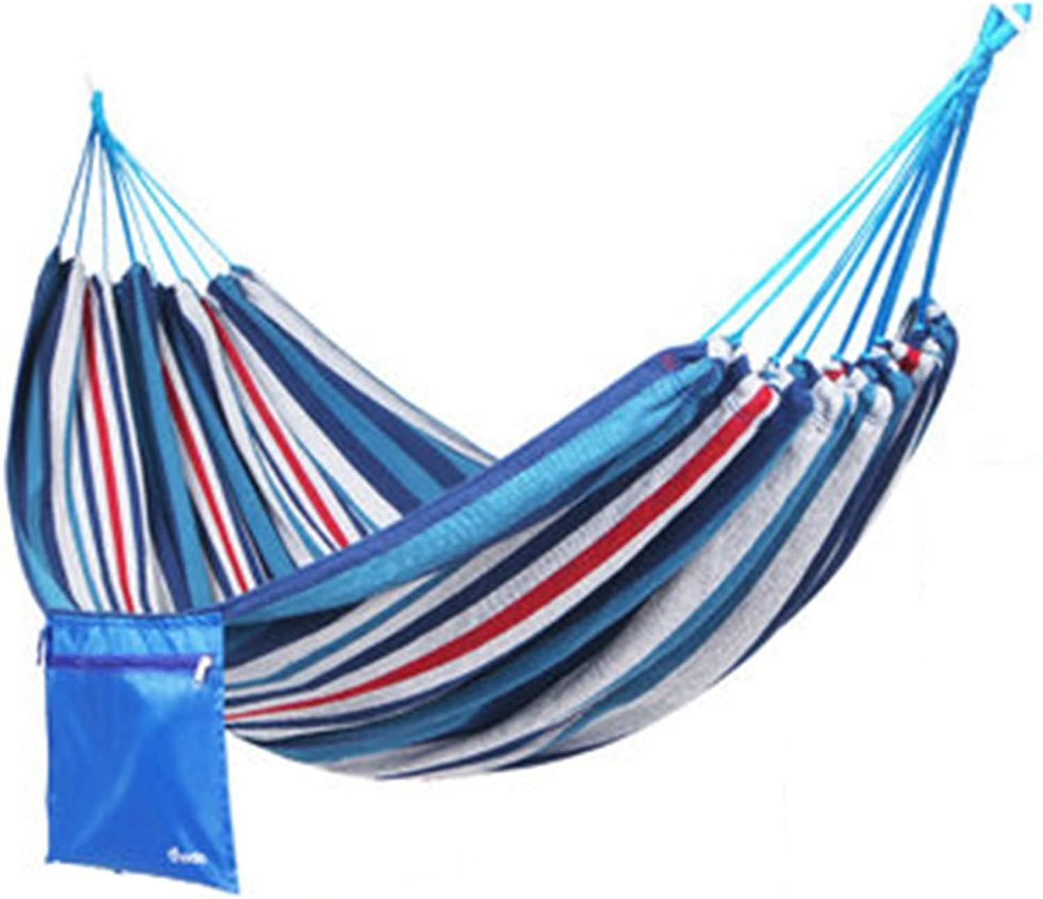Hammocks Canvas Outdoor Hammock Camping Storage Bag Swing Antiroll Chair 190  80cm (color   blueee)