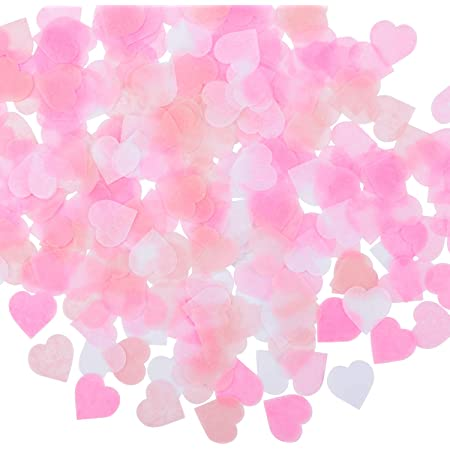 Ivory /& Cerise pink hearts tissue paper handmade confetti Party and table decorWeddingBirtdayetc..