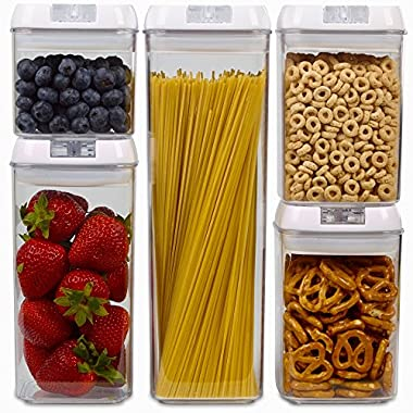 Airtight Food Storage Containers with Lids - BPA Free, Dishwasher Safe, FDA Approved food grade materials, Airtight, Liquid Friendly