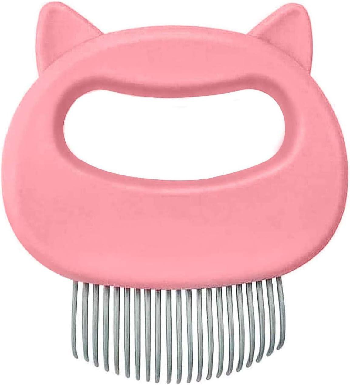 Yisscen Cepillo para gato, cepillo para gato para mascotas, peine para gatos, peine para masajes para gatos, cepillo para perros, cepillo para mascotas, peine para mascotas (Rosado)