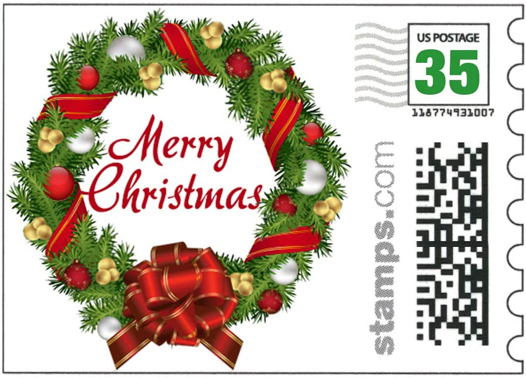 USPS Under blast sales Merry Christmas Stamps - Free shipping on posting reviews of 20 Rate Sheet Postcard