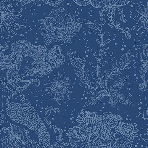 WallsByMe Peel and Stick Blue Nautical Fabric Removable