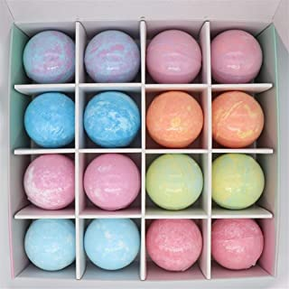 Handmade bath bomb gift set blending explosion bubble bath ball bath salt packages Gift Box 120g * 16 Natural Quality (Size : 120g*16)