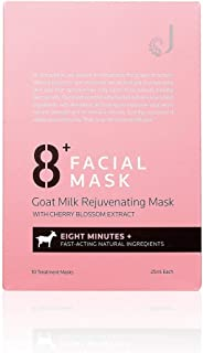 Jema Rose 8+ Minutes Goat Milk Rejuvenating Mask with Cherry Blossom Extract 10 Pack, 10 count