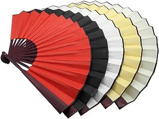 TrendBox Ventilador Plegable de Mano Tradicional China de Nylon-Tela para Partes de Bolas Funcionamiento del Baile PRATICE Unisex 5 Colores