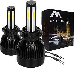 WISWIS 4-SIDED D2S D2R D4S D4R D2 D4 LED Headlight Bulbs-High/Low Beam 80W 8000LM/set 6000K Cool White-1x Pair(2pcs)