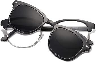 SOJOS Retro Semi Rimless Eyeglasses Eyewear Frame Clip On Sunglasses Half Horn Rimmed SJ5018