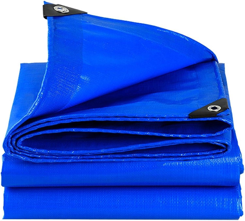 Mehrzweck Plane 100% Wasserdichte und UV-geschützte Plane - - - mit hoher Dichte gewebtes Polyethylen und doppelt laminiert - Blaue Plane, Dicke 0.35mm, 180g   m², Multi-Größe-Optionen Schutzplane B07K66SPDW  Guter Markt d3f031