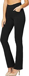 Premium Women's Stretch Dress Pants with Pockets - Wear...