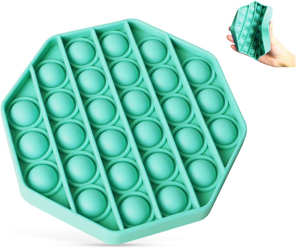 Autism Special Needs Stress Reliever Squeeze Sensory Tools to Relieve Emotional Stress for Kids Adults. Push Pop Bubble Fidget Sensory Toy Push Pop Fidget Toy Purple Polygon