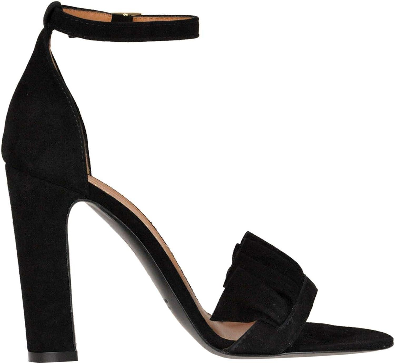 VIA ROMA 15 Women's MCGLCAT000005113E Black Suede Sandals